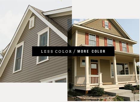Exterior home design ideas james hardie for What color roof should i get for my house