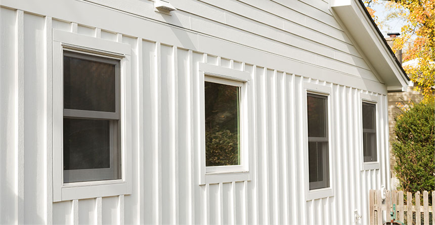 HardiePanel® Vertical Siding in Arctic White