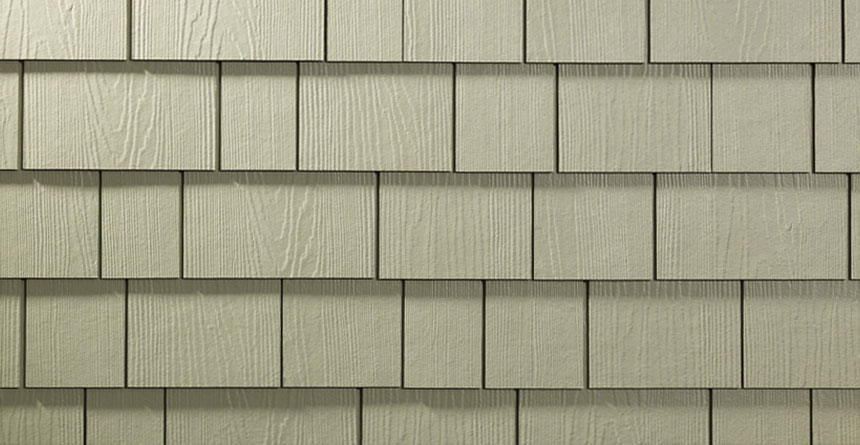 HardieShingle® Siding in Straight Edge Panel Product Closeup