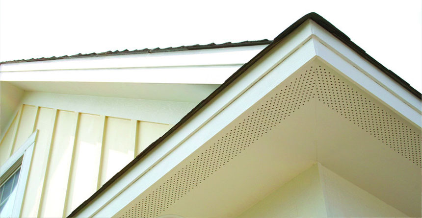 HardieSoffit® Panels Close-up in Arctic White