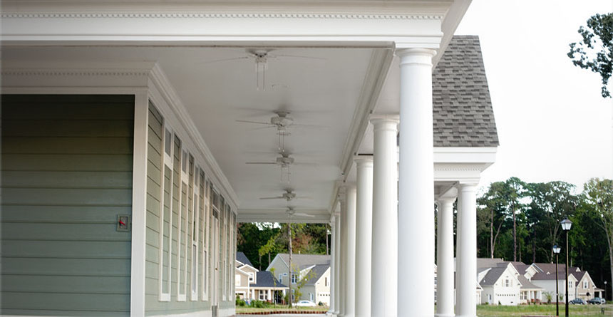 HardieSoffit® Panels Used on Porch